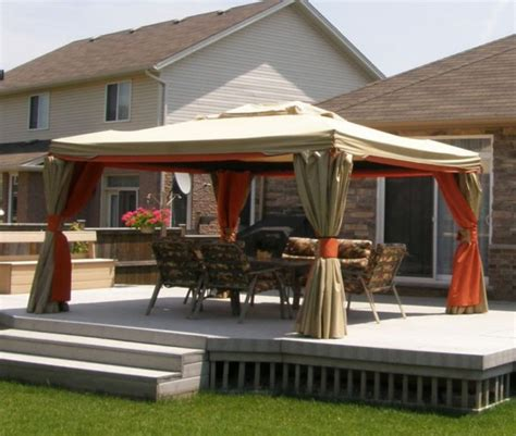 deck gazebos and canopies deck design and ideas