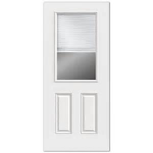 Exterior Door Blinds Reliabilt 2 Panel Mini Blinds Between The Glass Inswing Steel Entry Door Lowe S Canada