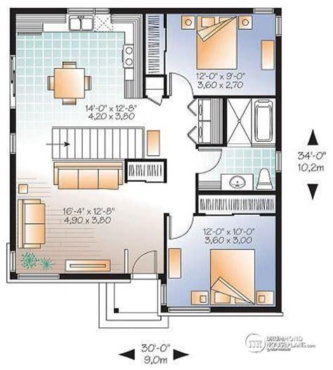 bungalow open concept floor plans small open concept house plan w3129 detail from drummondhouseplans com