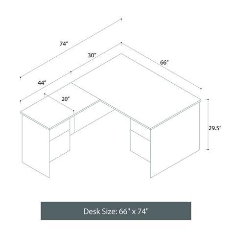 L Shaped Desk Dimensions L Shaped Executive Computer Desk Left Return Contempo Space