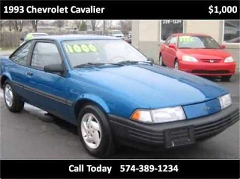 best auto repair manual 1993 chevrolet cavalier on board diagnostic 1993 chevrolet cavalier problems online manuals and