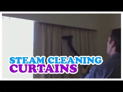 how to steam drapes steam cleaning curtains youtube