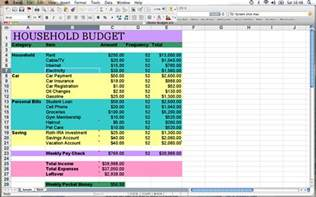 best photos of household budget template monthly