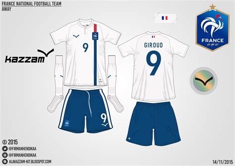 Oleh Oleh Kaos Dari Perancis 1 national football team home away kits