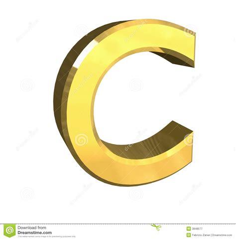 c com gold 3d letter c stock illustration illustration of pupil