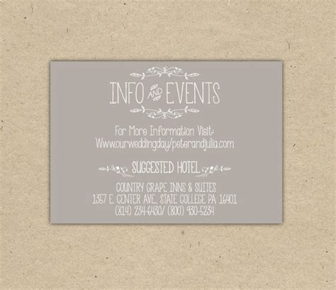 Printed Wedding Invitation Inserts by Items Similar To Vintage Wedding Invitation Insert