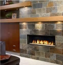 gas fireplace lights mantel linear look