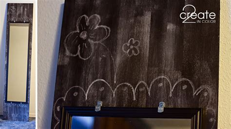 diy chalkboard from mirror two for one diy chalkboard mirror 1 more 187 2create in