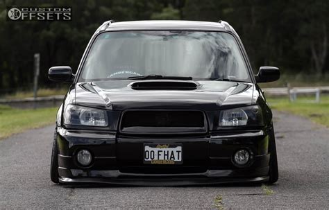 bagged subaru forester wheel offset 2004 subaru forester flush bagged