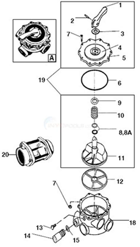 pool filter valve diagram hayward multiport valve 2 quot models sp715 sp716 parts