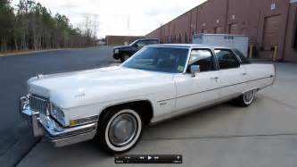 1973 Cadillac Fleetwood Brougham 1973 Cadillac Fleetwood Brougham Start Up Exhaust And In