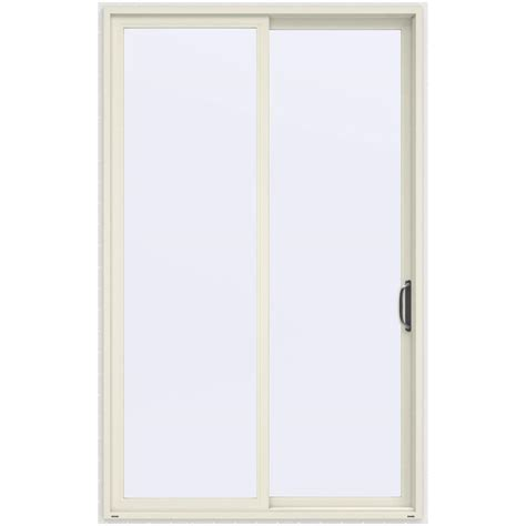 96 Patio Door Jeld Wen 60 In X 96 In V 4500 Vanilla Prehung Right Sliding 1 Lite Vinyl Patio