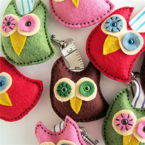 Handmade Owls - handmade owl key ring by thebigforest notonthehighstreet