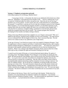 Justification Letter For Physical Therapy Graduate School Personal Statement Exles