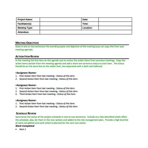meeting notes template with action items best an introduction to