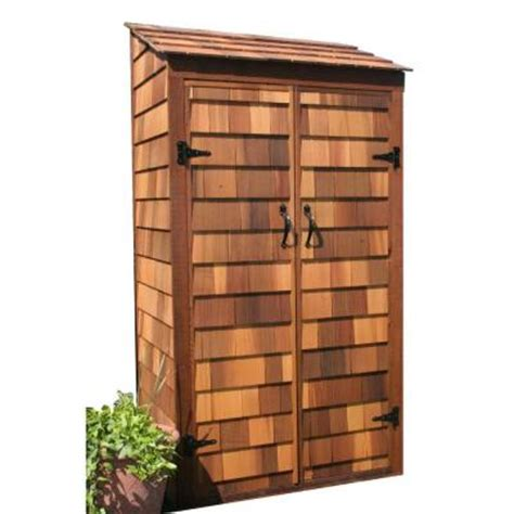 Tool Shed Home Depot by Greenstone 3 Ft X 2 Ft Cedar Garden Hutch Tool Shed