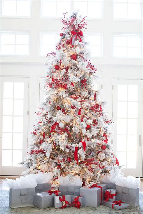 red christmas tree decorations red tree decorations vibrant trees 40 red and white christmas decorating ideas all about