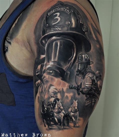 fire fighter tattoos 30 firefighter tattoos on sleeve