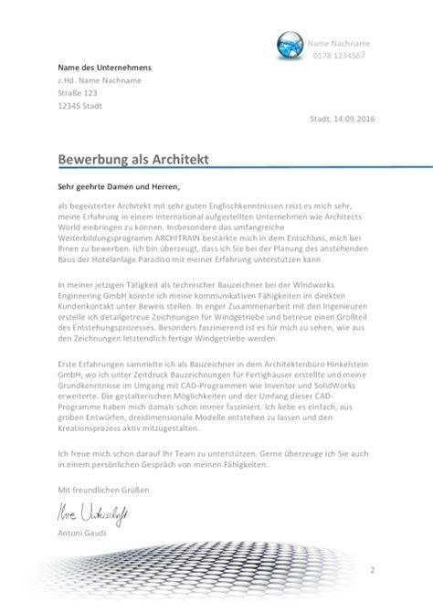 bewerbungsschreiben architekt architektin jobguru