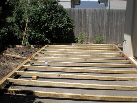 Build Wood Deck Build Wood Deck Over Concrete Patio Wood