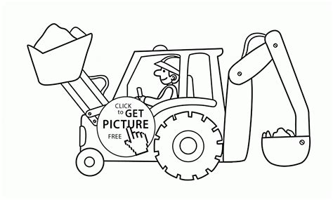 excavator coloring page printable excavator coloring page for kids transportation coloring