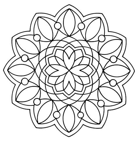 Free Printable Geometric Coloring Pages For Kids Coloring Picture Of A