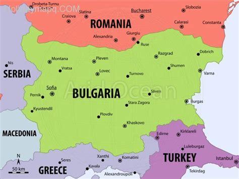 cool map  bulgaria holidaymapq pinterest bulgaria