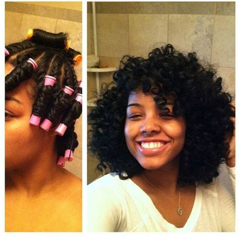 perm left to dry naturally on medium to long hair twist n curl with perm rods gorgeous http blackhair