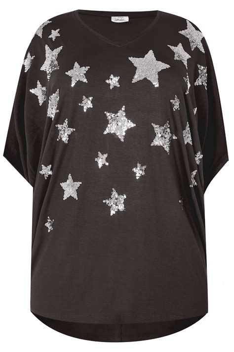 Top Jersey Oversize Noir Imprim 233 201 Toile Orn 233 De Sequins Avec Manches Ange Grandes Tailles 16 224 32 Clothing Terms And Conditions Template