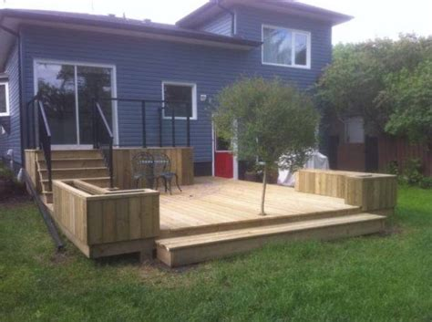Pressure Treated Wood For Planter Boxes by This Pressure Treated Wood Deck Built In Bowness Features