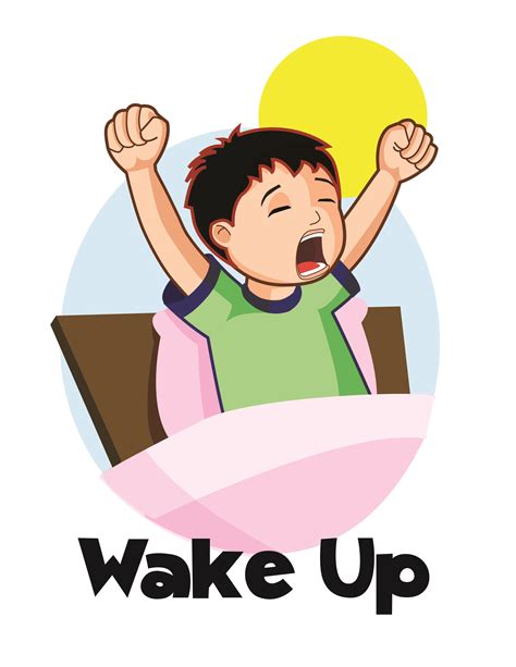 wake up everybody no more sleeping in bed wake up clipart cliparts co