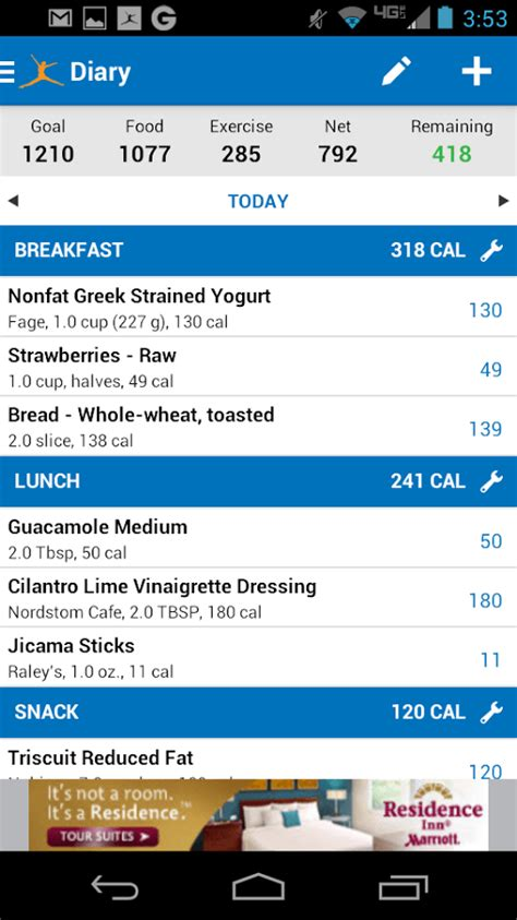 calorie counter app android 16 awesome apps that will up and kick start your morning