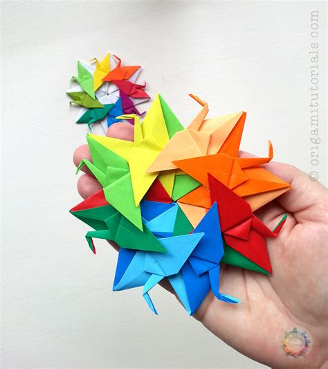 origami crane wreath series nr 3 origami tutorials