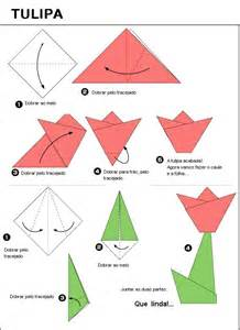 Origami How To - edvitec tulipa origami