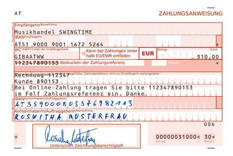 Word Vorlage Sepa Zahlschein Stuzza Zahlen Mit System Die Zahlungsanweisung