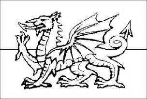 Coloring Picture Of Wales Flag sketch template