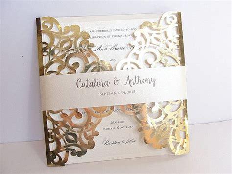 laser cut wedding invitation designs laser cut lace wedding invitations sansalvaje