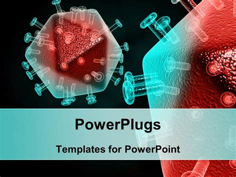 template free ppt virus powerpoint template tested sle of cells infected by