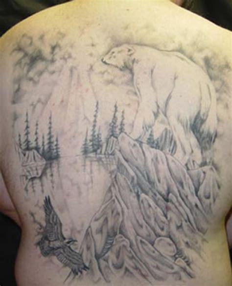 tattoo back forest forest polar bear tattoo on back tattoos book 65 000