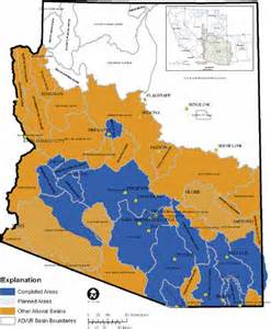 arizona aquifer map an interactive map service for displaying ground