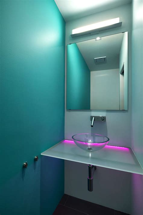 bathroom led lights a modern row house for a fun couple with a love of cooking