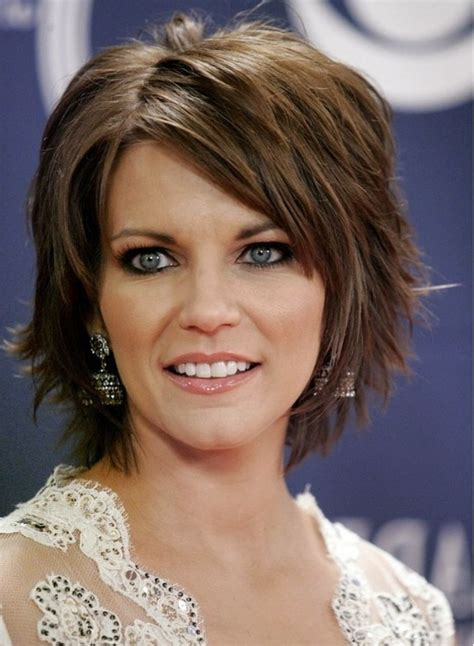 medium hairstyles layered with bangs layered short bob hairstyles with bangs 27 with layered