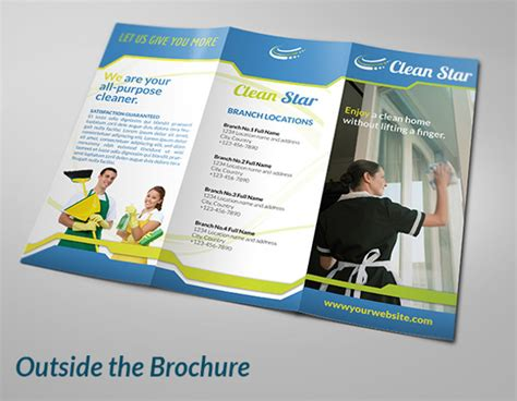 8 cleaning company brochures designs templates free
