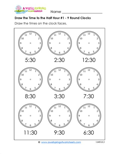 Telling Time By Hour Worksheets