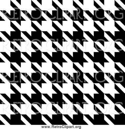 black and white houndstooth pattern clipart of a black and white seamless houndstooth pattern