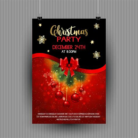 christmas party flyer design   vectors clipart graphics vector art