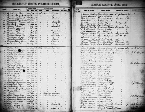Marion County Ohio Marriage Records Genealogy Data Page 68 Notes Pages