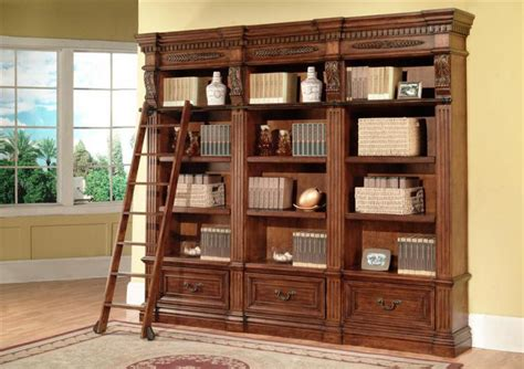 home bookshelves the grand manor granada home library bookcase set 12156
