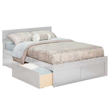 Bed Drawers by Orlando Platform Bed Flat Panel Footboard