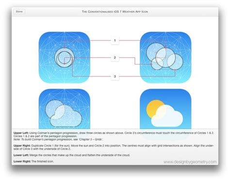 layout grid ios the ios weather icon and the golden section designbygeometry